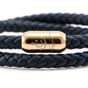 Constantin Nautics® Jack Tar náramek z pravé kůže CNJ10050-18