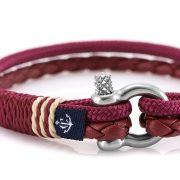 Constantin Nautics® Jack Tar SLIM náramek z kůže a jachtařského lana CNJ10076-19